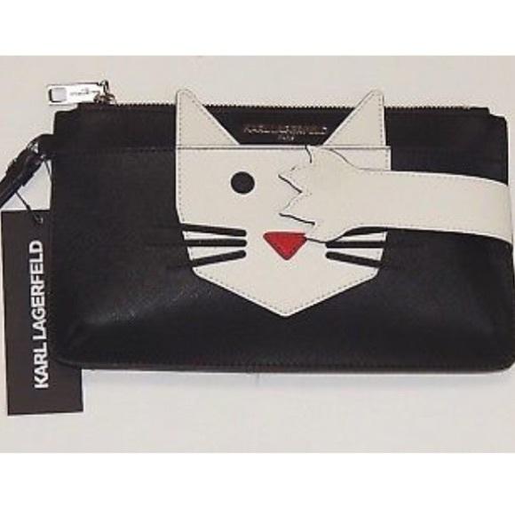 Karl Lagerfeld Bags Paris Cute Choupette Cat Wristlet Poshmark